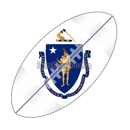 massachusetts state usa football flag