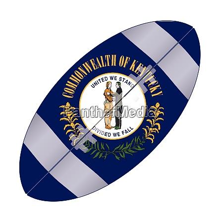 kentucky state usa football flag