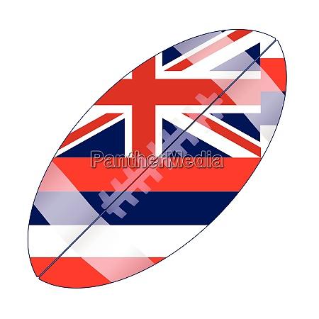 hawaii state usa football flag