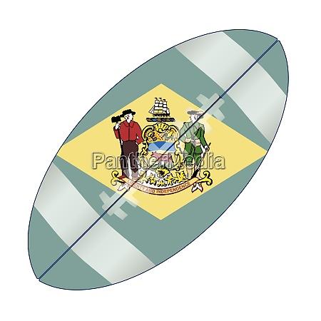 delaware state usa football flag