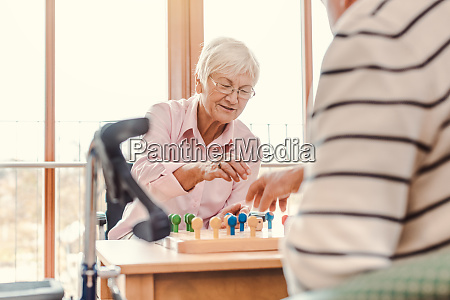 two seniors in a nursing home