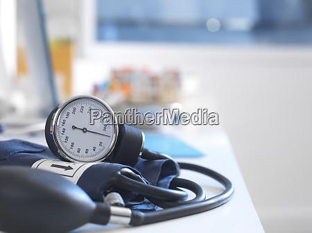 health screening a stethoscope on a