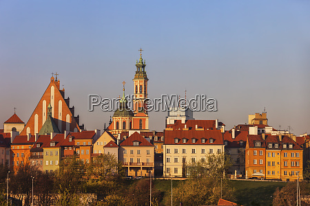 old town houses and churches at