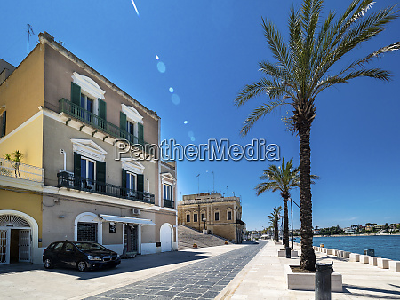 promenade and stairway brindisi italy