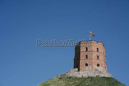 low angle view of gediminas tower