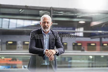 portrait of mature businessman at the