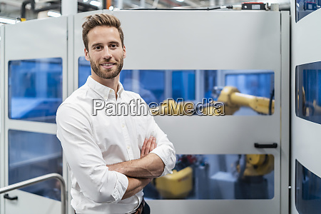 portrait of a smiling businessman in
