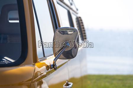 close up of a camper van