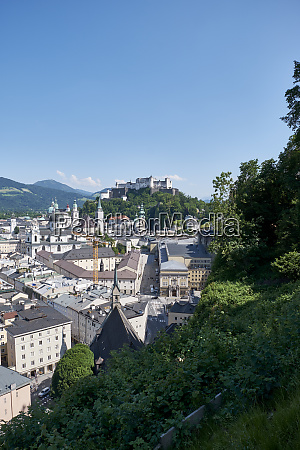 view from moenchsberg to old town