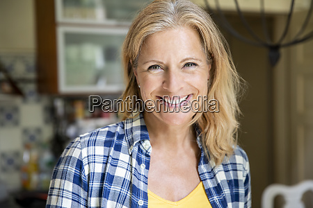 portrait of smiling mature woman at