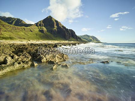 scenic view of beach in kaena