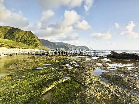 scenic view of rocky shore at
