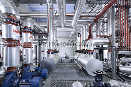 pipeworks with insulation in a technical