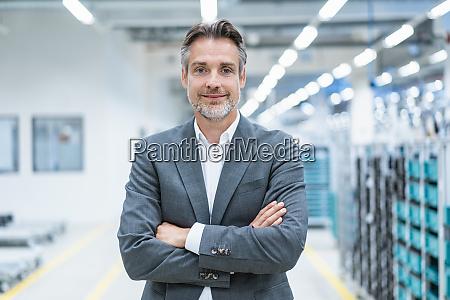 portrait of a confident businessman in
