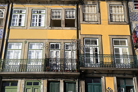 traditional facades colorful architecture in the