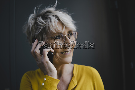 portrait of mature businesswoman with grey