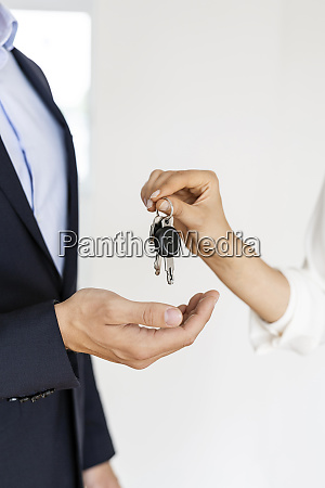 close up of real estate agent