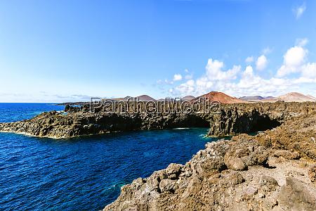landscape of los hervideros cliffs lanzarote