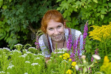 portrait of redheaded teenage girl in