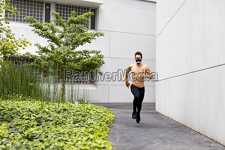 young athlete doing intensive running training