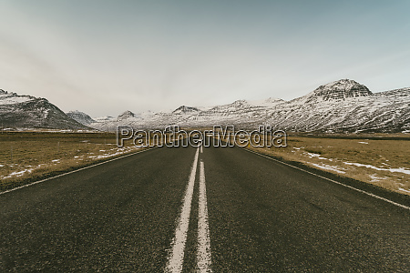 iceland road number 1 with mountains