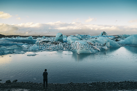 iceland south iceland jokulsarlon glacial lake