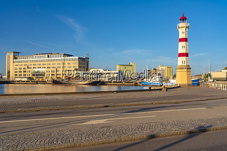 malmo old light house by harbor