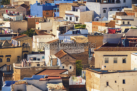 view of chefchaouen from above with