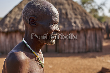 traditional mudimba tribe man canhimei angola