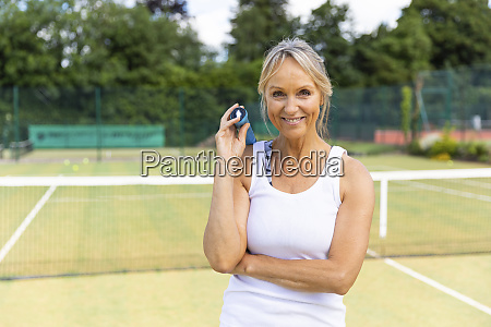 portrait of smiling mature woman on