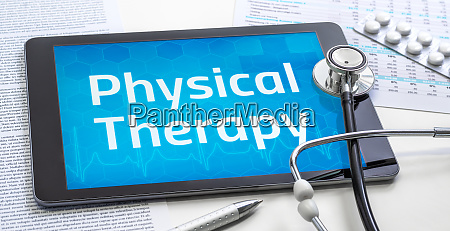 the word physical therapy on the