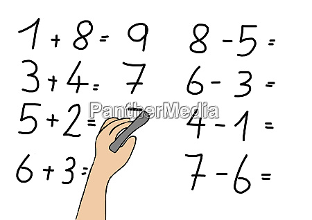 childs drawing of pupil calculating