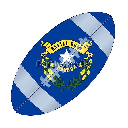 navada state usa football flag