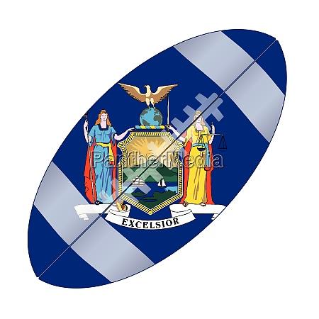 new york state usa football flag