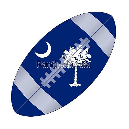 south carolina state usa football flag