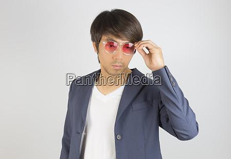 portrait asian casual businessman in suit