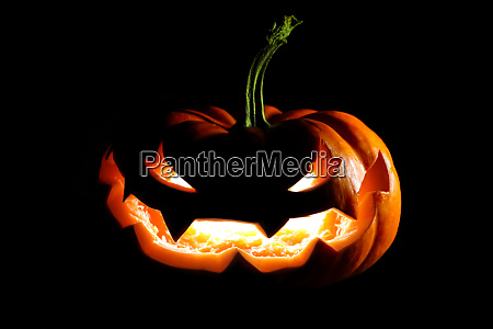 glowing halloween jack o lantern