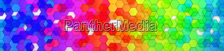 abstract bright and colorful hexagon mosaic