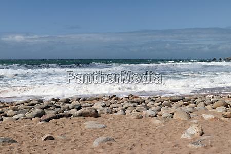 waves of atlantic on the coast