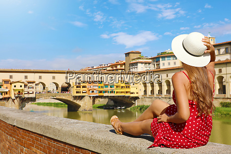 tourism in tuscany rear view of