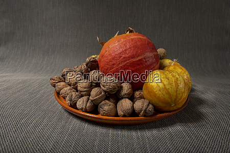 walnuts cucumbers and pumpkins