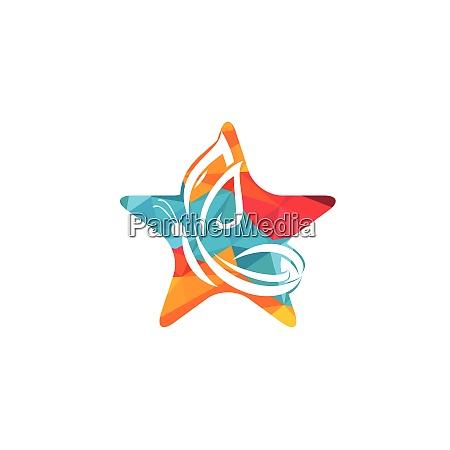 star butterfly vector logo design