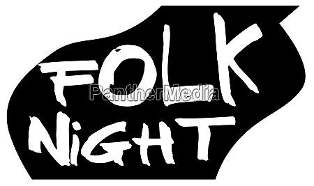 folk night acoustic guitar