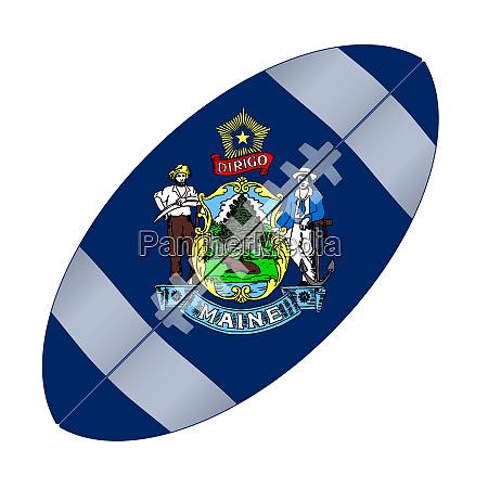 maine state usa football flag