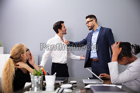 executive shouting at his worker for