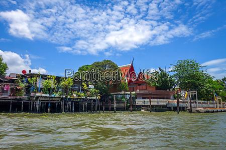 buddhist temple on khlong bangkok thailand