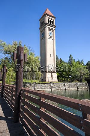 clock tower in spokane washington