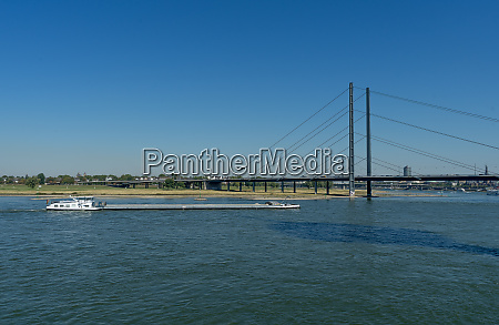 freighter on the river rhine in