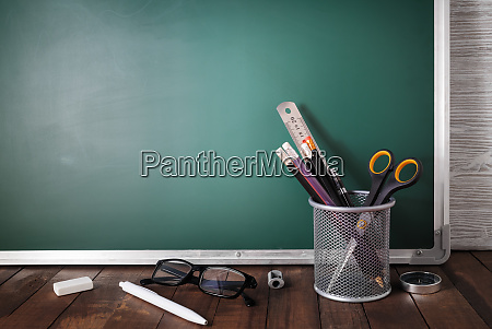 school stationery chalkboard