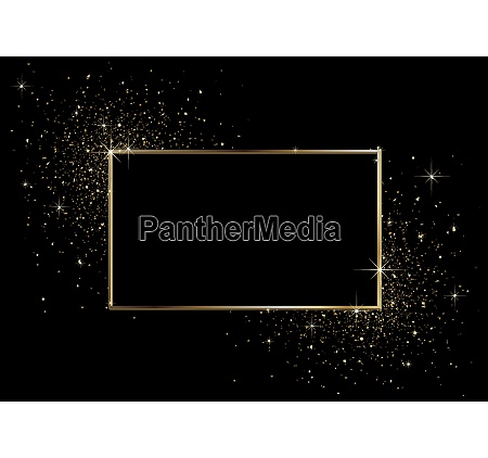 black background with golden frame and